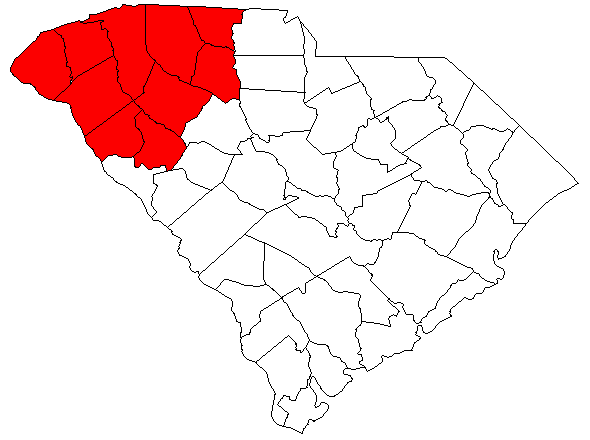 Upstate SC according to Wikipeidia and others