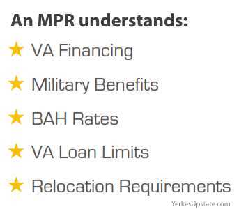As an MRP, I understand: Va Financing, Military Benefits, BAH Rates, VA Loan Limits and Relocation Requirements