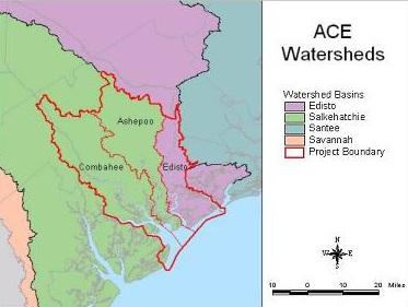ACE Watersheds (Salkahatchie, Edisto, and Santee)