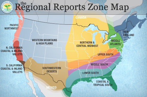 The Regional Reports Zone Map  (UPDATE:  Does not appear to be working as intended)