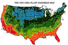 USDA Plant Hardiness Map - Click to View